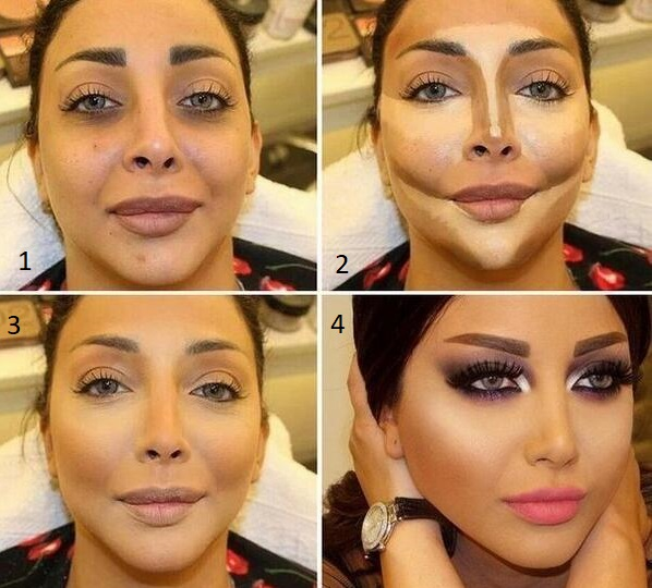 maquillage,libanais,apres