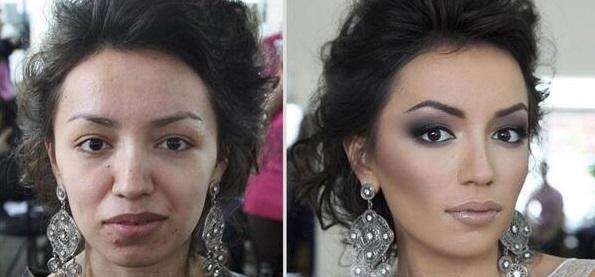 maquillage,libanais,avant,apres