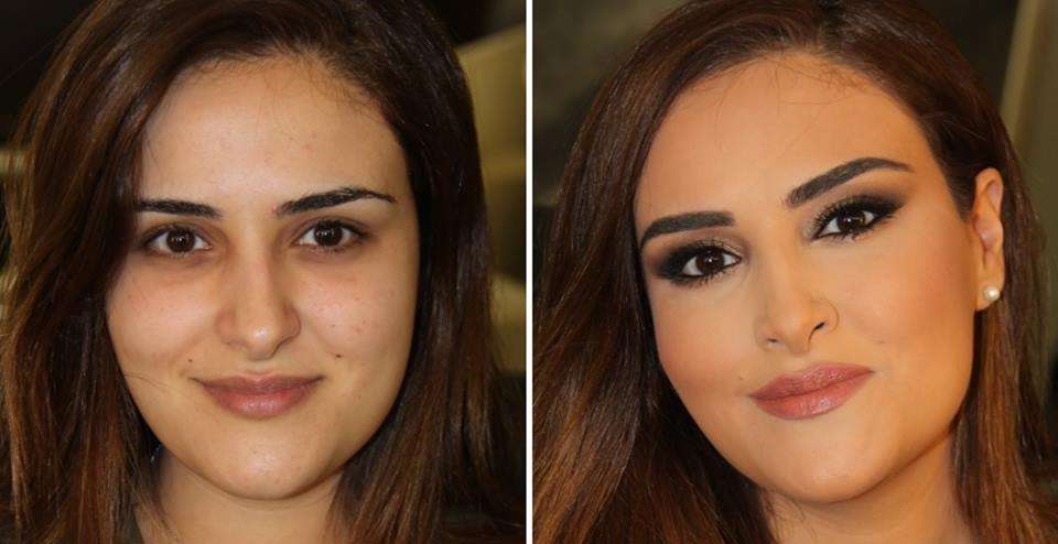 maquillage,libanais,avant